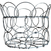 Vintage Wire Collapsible Egg Basket