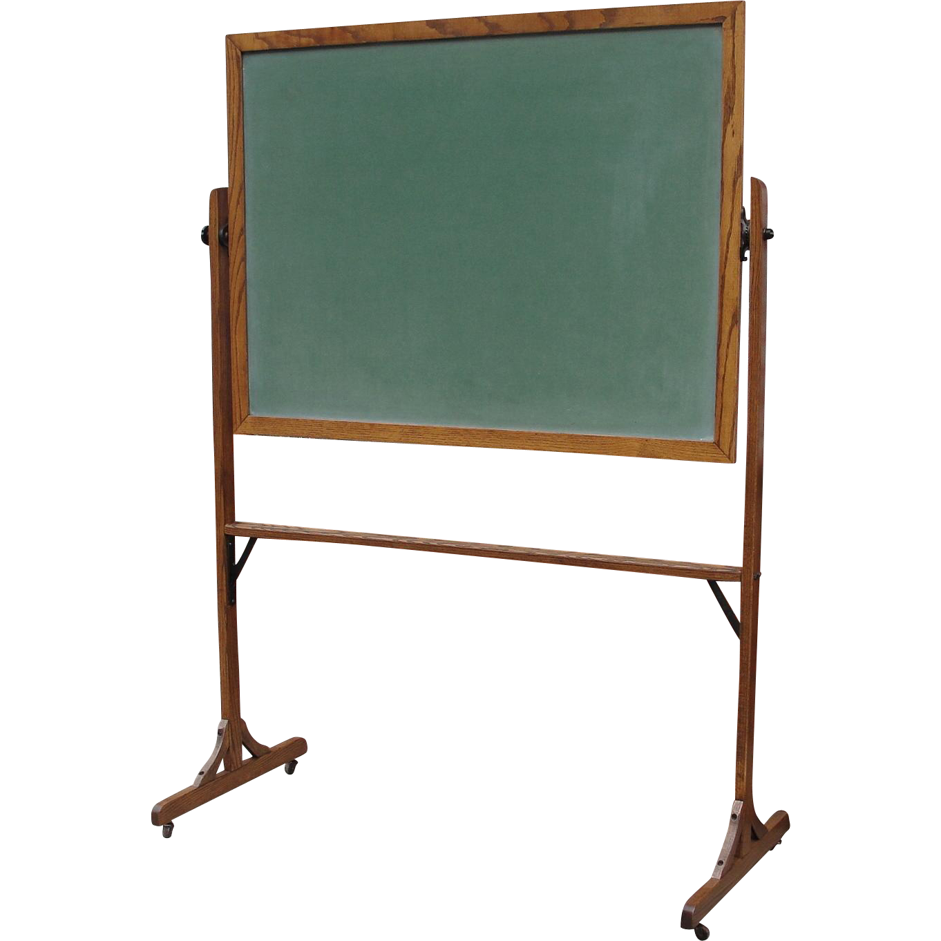 Vintage Oak Frame Standing School House Chalk Board