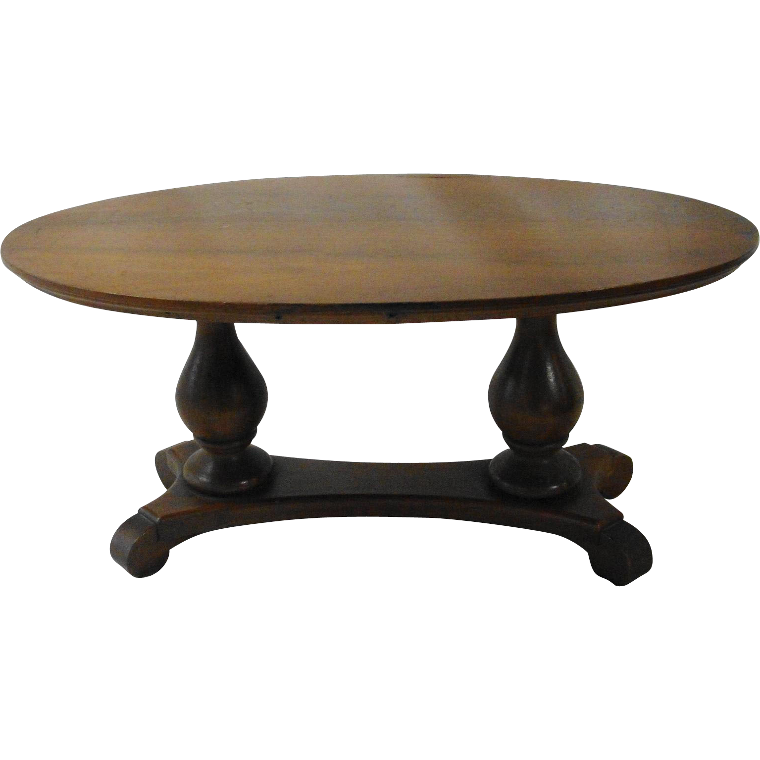 Vintage Salesman Sample Double Pedestal Walnut Table