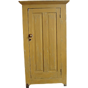 Primitive Painted One Door Jelly Pantry Cupboard