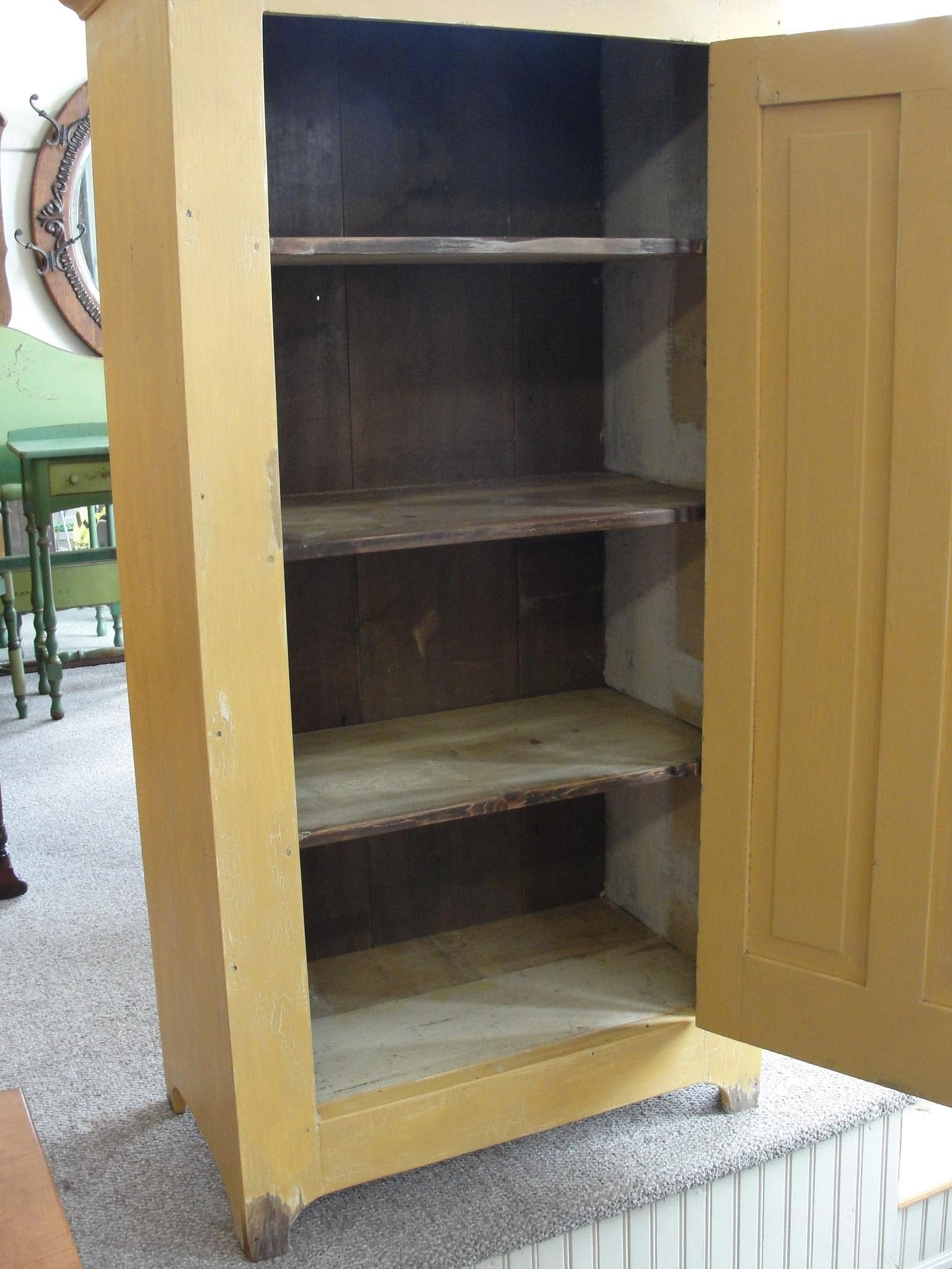 Primitive Painted One Door Jelly Pantry Cupboard from ...