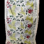 Vintage Waverly Fabric Botanical Print