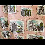 Vintage Waverly Fabric Mid Century Retro Design 22 Yards