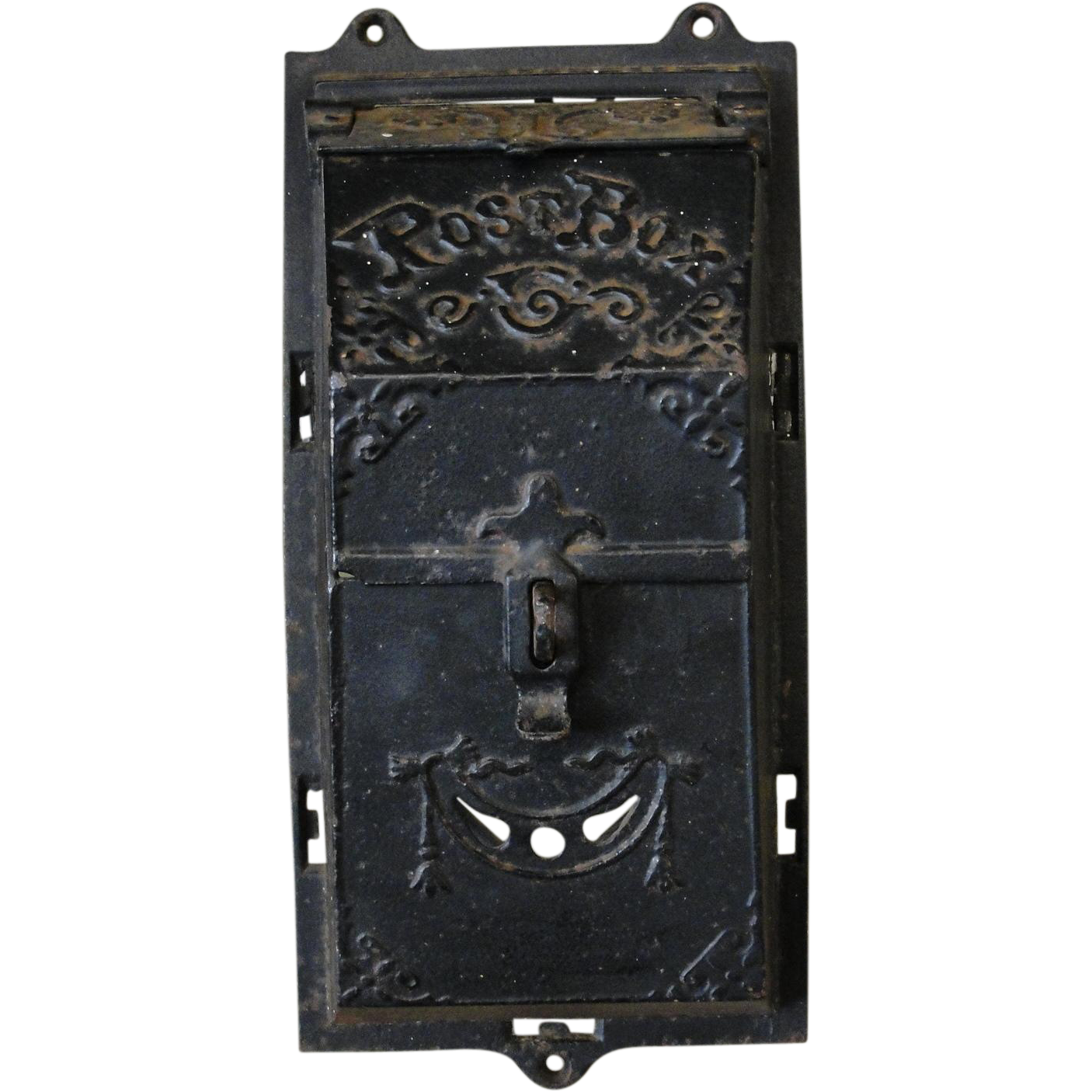 Antique Victorian Cast Iron Post Mail Box
