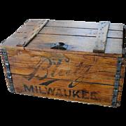 Vintage Blatz Beer Wooden Crate Box