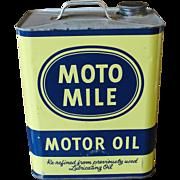 Vintage Moto Mile 2 Gallon Oil Can