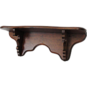 Victorian Walnut Clock Shelf