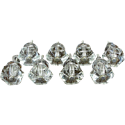 Vintage Clear Glass Cabinet Drawer Knobs