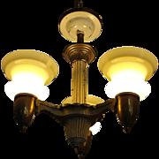 Vintage 1920's Deco Ceiling Light Fixture Chandelier