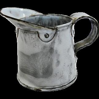 Vintage Small Gray Graniteware Agate Ware Measure