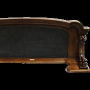 Oak Frame Chalk Board with Gothic Lion Heads