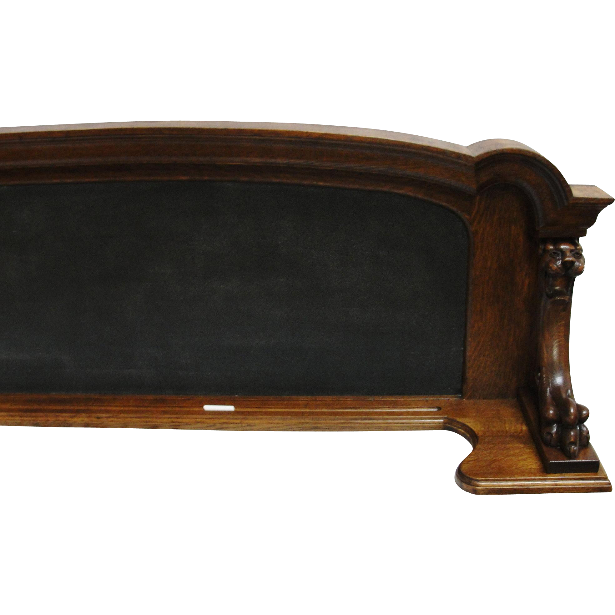 Oak Frame Chalk Board with Gothic Lion Heads