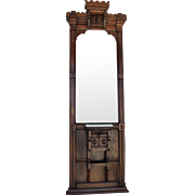 Walnut Victorian Eastlake Pier Mirror