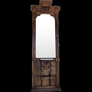 Walnut Victorian Eastlake Pier Mirror