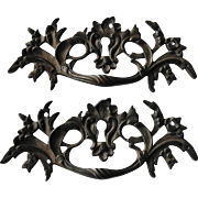Ornate Antique Brass Drawer Pulls Handles