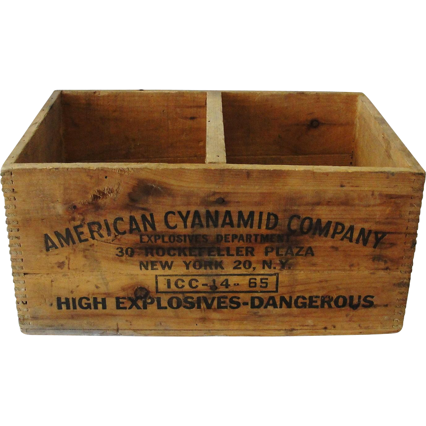Vintage American Cyanamid Dynamite Wooden Crate