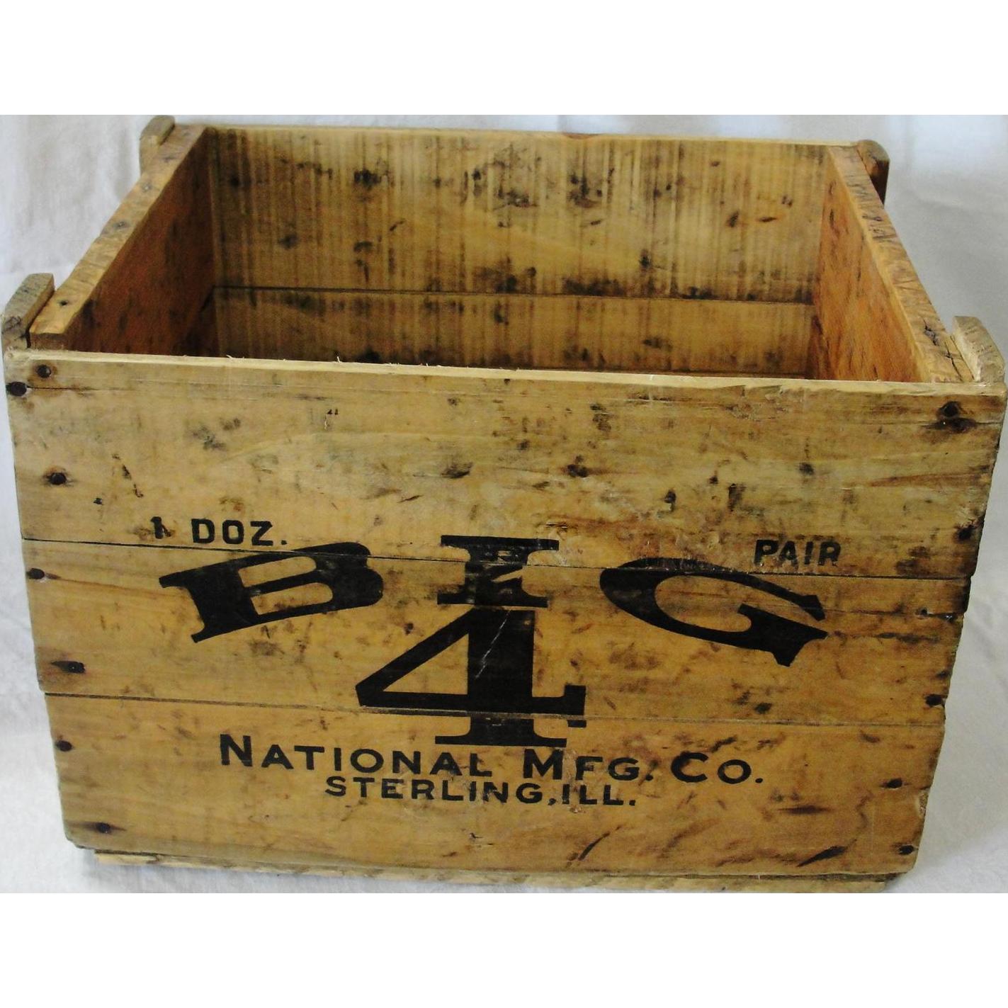 Vintage Big 4 Barn Door Roller Wood Advertising Box