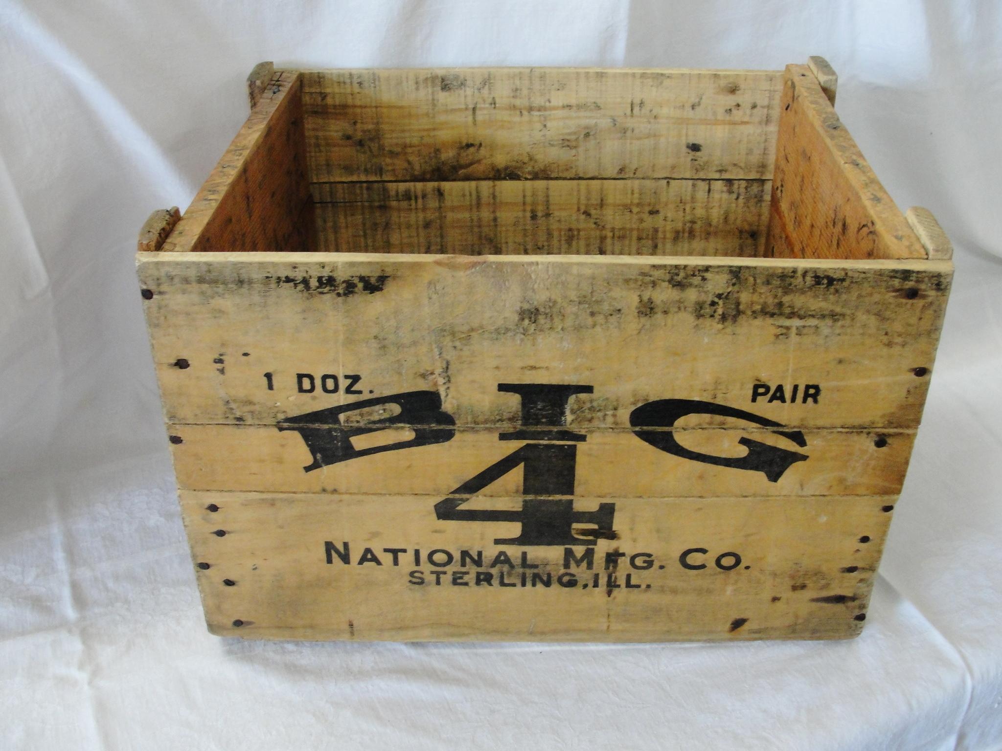 Vintage Big 4 Barn Door Roller Wood Advertising Box From Breadandbutter On Ruby Lane