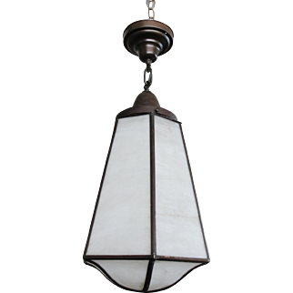 Vintage Mission Style Hanging Light Fixture