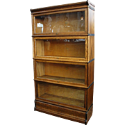 Antique Macey Oak 4 Section Stacking Barrister Bookcase
