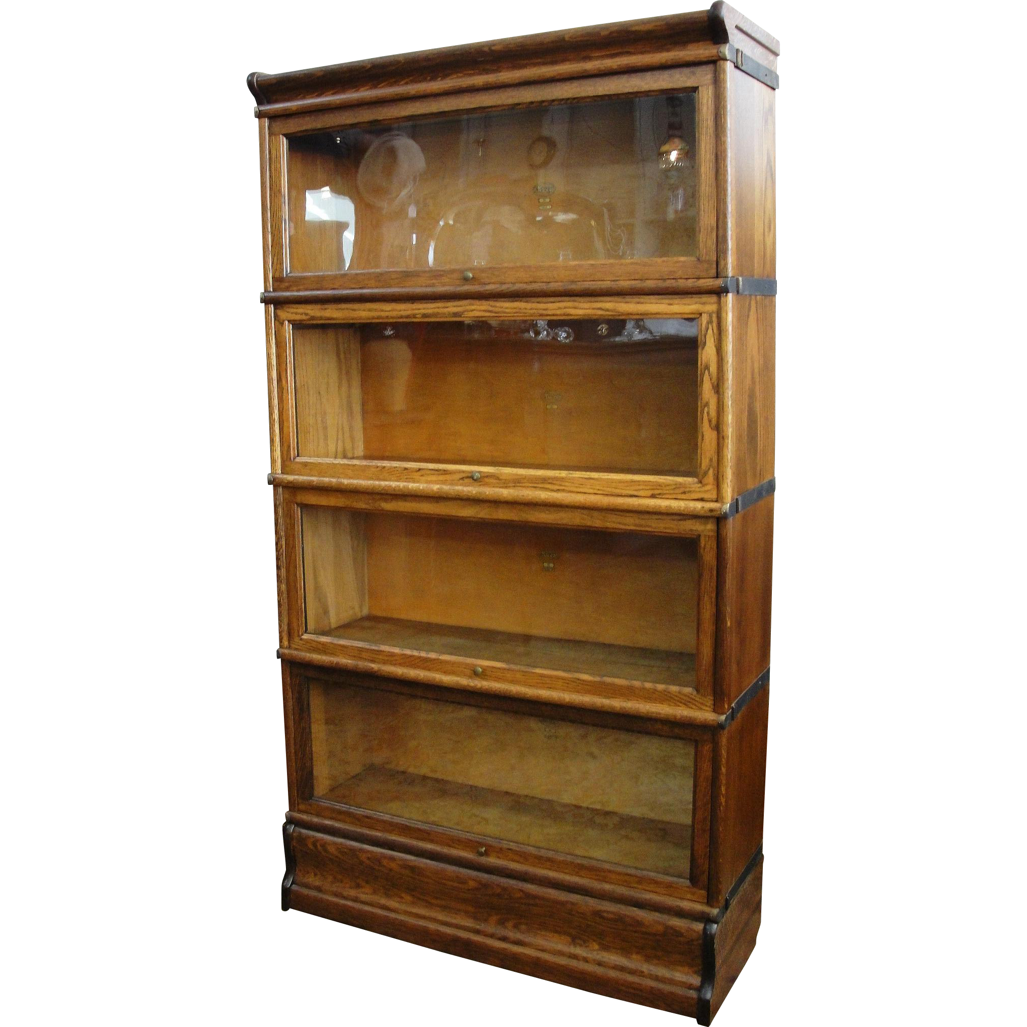 Antique Macey Oak 4 Section Stacking Barrister Bookcase From Breadandbutter On Ruby Lane