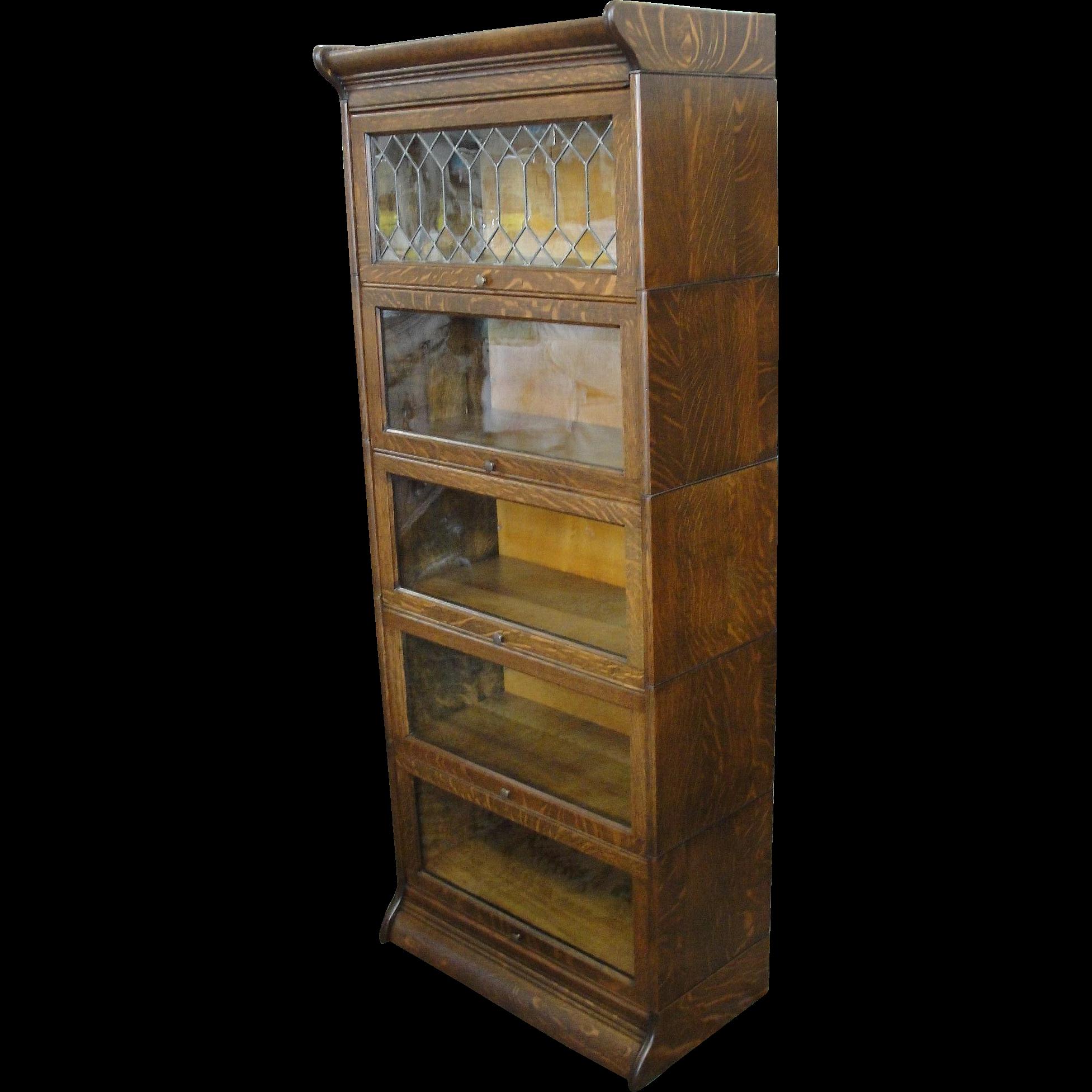 Gunn Quarter Sawn Oak 190 Size Stacking Barrister Bookcase