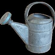 Vintage Galvanized Metal Garden Watering Sprinkling Can