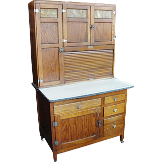 Original Finish 1920's Oak Sellers Kitchen Cabinet