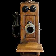 Antique Kellogg Oak Wall Telephone 1901 Patent