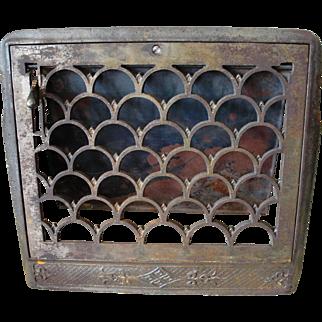 Antique Cast Iron Wall Furnace Register Grate