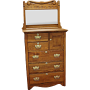 Texas Highboy Chest of Drawers with Mirror