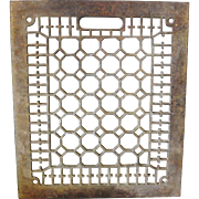 Ornate Cast Iron Floor Grate 10 x 12