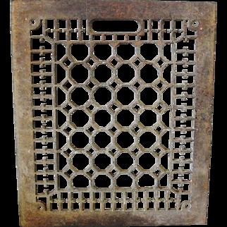 Ornate Cast Iron Floor Grate 10 x 12