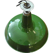 Vintage Green Industrial Factory Barn Pendant Light