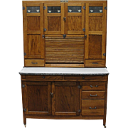 Vintage 1920 McDougall Oak Kitchen Cabinet