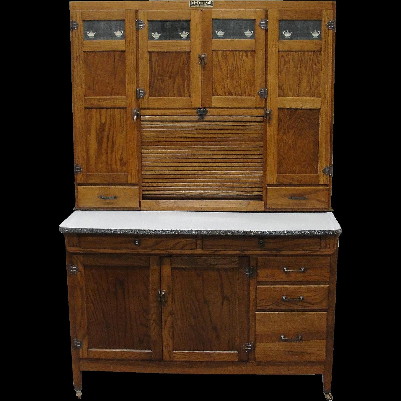 Antique Kitchen Cabinet: Vintage 1920 McDougall Oak Kitchen Cabinet From