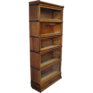 Quartersawn Oak Macey 5 Stack Barrister Lawyer Bookcase
