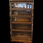 Quarter Sawn Oak Globe Wernicke 5 Stack Barrister Bookcase