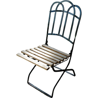 Vintage Metal Folding Garden Chair