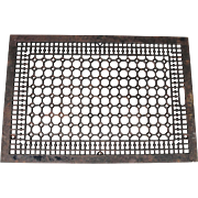 Ornate Cast Iron Floor Grate Register