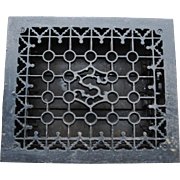 Ornate Cast Iron S Register Heat Grate