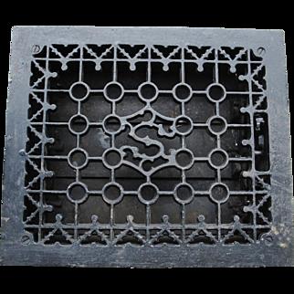 Ornate Cast Iron S Register Heat Grate