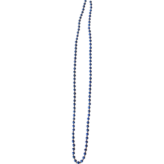Lovely Lapis Lazuli long necklace with 14k gold beads