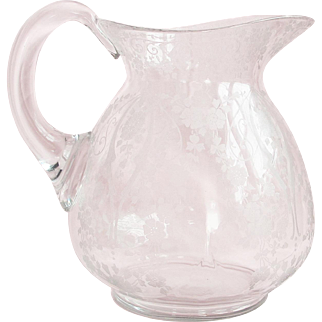 "Vintage Cambridge ""Diane"" Pattern Water Pitcher"