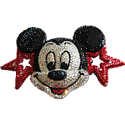 Spectacular Rhinestone Mickey Mouse Buckle by Beverly Hills Designer Kathrine Baumann