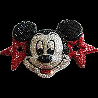 Spectacular Rhinestone Mickey Mouse Buckle by Beverly Hills Designer Kathrine Baumann
