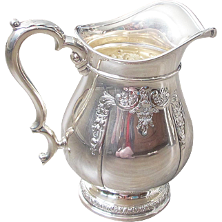 FAB International Sterling PRELUDE Water Pitcher - 4-1/2 pints #12517 - Hand Chased