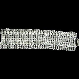 Fabulous Vintage Wide Sparkly Rhinestone Bracelet
