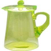 Vintage Vaseline Lemonade Pitcher w/ Lid