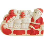 Vintage IRWIN Celluloid Santa in Sled